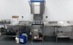 Bottle drying machine setup